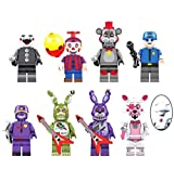 Set of 8 pcs New Five Nights at Freddys Building Blocks Toys Set , Heroes from Five Nights and Friends Movie, Toys Dolls Gifts Cake Toppers, Gift for Boys and Girls