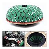 LYHGT Filtro de Aire 1pc 100 mm de Alto Flujo de Coches Esponja del Filtro de Aire de admisión Turbo Green Mushroom Rendimiento Duradero Accesorios for automóviles Filtro de Cartucho