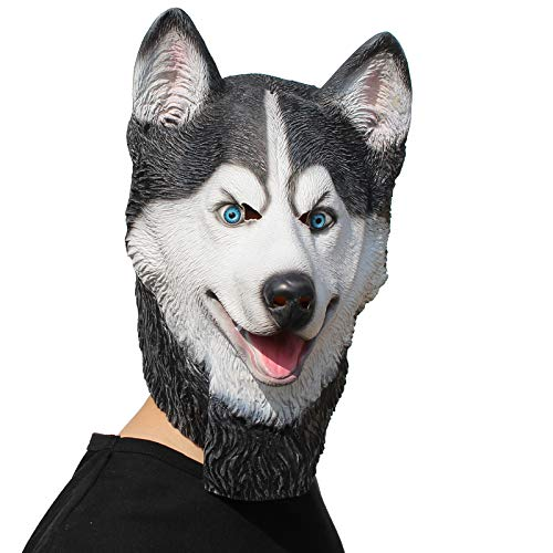 PartyCostume - Husky Maske - Halloween Latex Maske Der Hund Den Kopf
