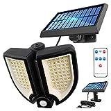 YSSMAO Luz Solar de 90led Outdoor 3 Modos Cuerpo Humano Inducción Lámpara de Pared Solar de jardín Decoración del jardín Camino de jardín Impermeable Iluminación de Emergencia