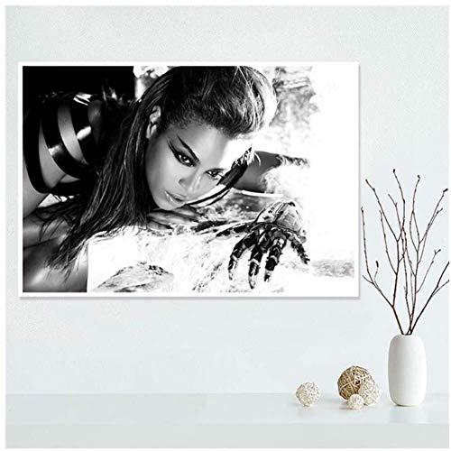 Gopfl Schweres Make-up Beyonce Sänger Poster Leinwand Malerei Poster Wandkunst Drucke für Zuhause Wanddekoration -20X28 Zoll ohne Rahmen 1 PCS