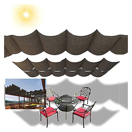 XJJUN Cubierta De Sombra Extensible, Tela Transpirable Resistente Al Desgarro De La Vela De La Sombra De La Onda del Alambre Deslizante, para La Terraza del Jardín del Pabellón De La Pérgola