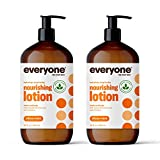 Everyone Nourishing Hand and Body Lotion, 32 Ounce (Pack of 2), Citrus and Mint, Plant-Based Lotion with Pure Essential Oils, Coconut Oil, Aloe Vera and Vitamin E (Packaging May Vary)