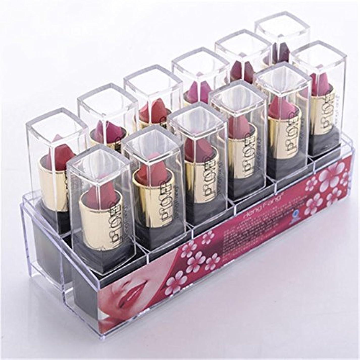 狂気スツール漂流2017 New 12pcs/set Lipsticks Sex Nude Lip Matte Kits Long Lasting Waterproof Pigment Matte Makeup Lipstick Set by HengFang