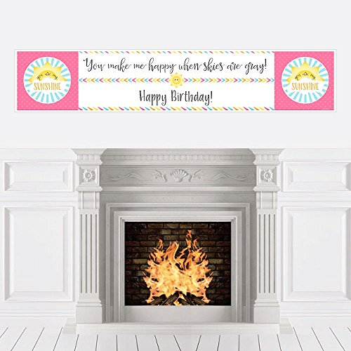 Big Dot of Happiness You are My Sunshine - Happy Birthday Decorations Party Banner
