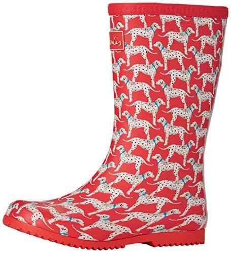 Joules Roll Up Welly, Botas de Agua Niñas, Rojo (Red Dalmatian Red Dog), 28 EU