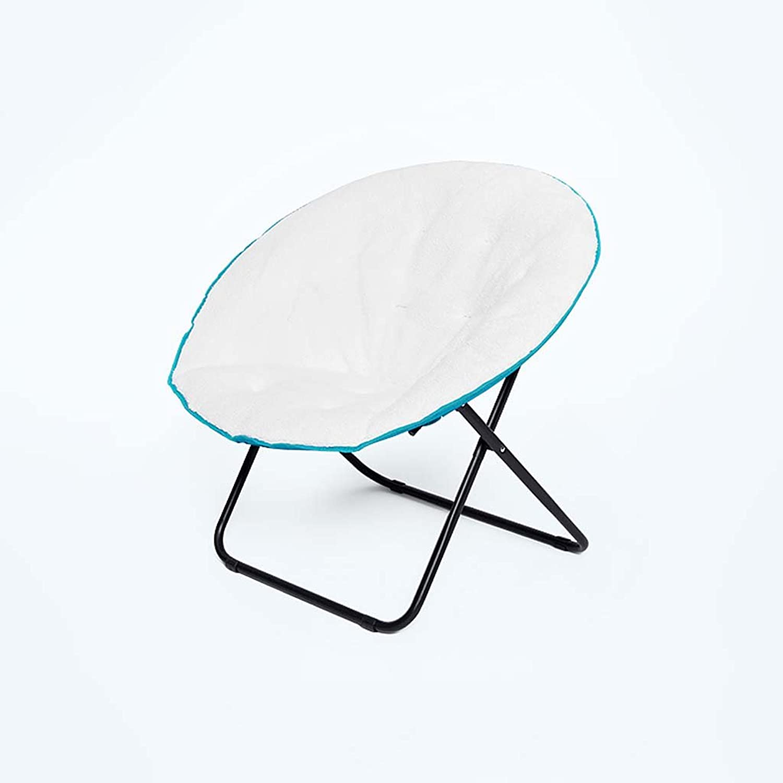 Moon Chairs Stühle Für Erwachsene Liegestühle Lazy Chair Radar Chair Lounge Chair Klappstühle Runde Stühle Sofa Chair Oxford Gewebe Thick Upright Cotton Steel,Blau B07C2M747K | Schön