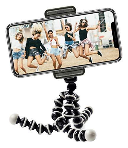 Mini Octopus reisstatief flexibel statief met mobielhouder voor iPhone, Android Phone en GoPro