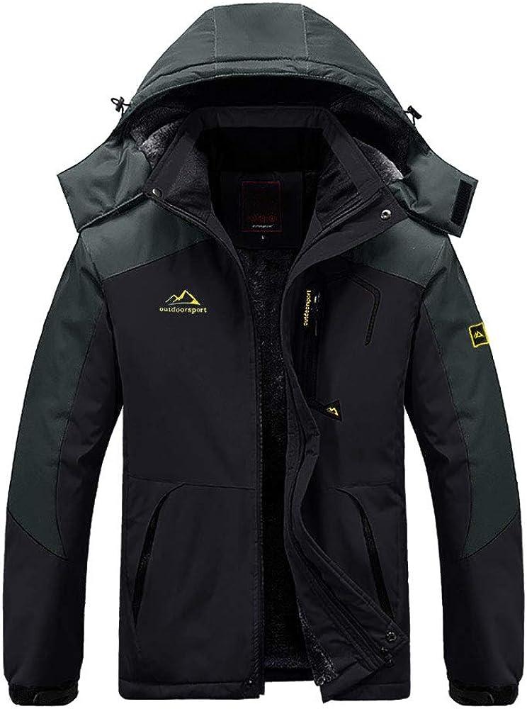 EKLENTSON Mens Waterproof Cheap Cheap sale mail order specialty store Fleece Lined Warm Jacket Winter Windpr