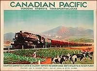ERZAN大人の子供のおもちゃカナダ太平洋ブリティッシュコロンビアカナダビンテージ鉄道旅行創造的なギフト300ピース ジグソーパズル