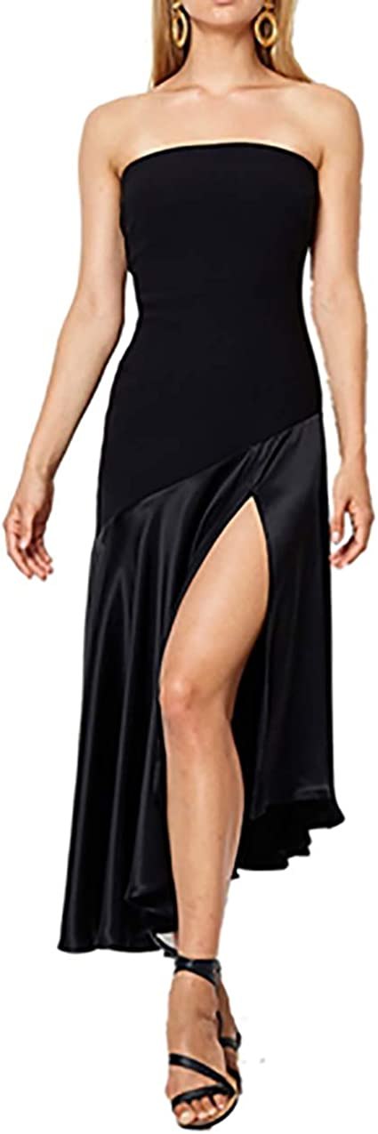 Bec & Bridge Natalia Strapless Dress in Black