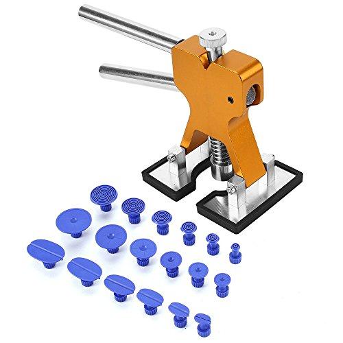 Lackfreies Dellen-Reparatur-Set – Auto-Dellen-Heber, Klebstoff-Abzieher für Auto Hohlraumentfernung, Reparaturwerkzeug-Set, PDR Werkzeuge mit 1 Doppelhebel-Ausbeulen-Reparaturheber und 18 Saugnäpfen
