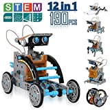 Robot Building Kit, 190 Pcs CIRO 12-in-1, STEM Learning Building kit Toys Science