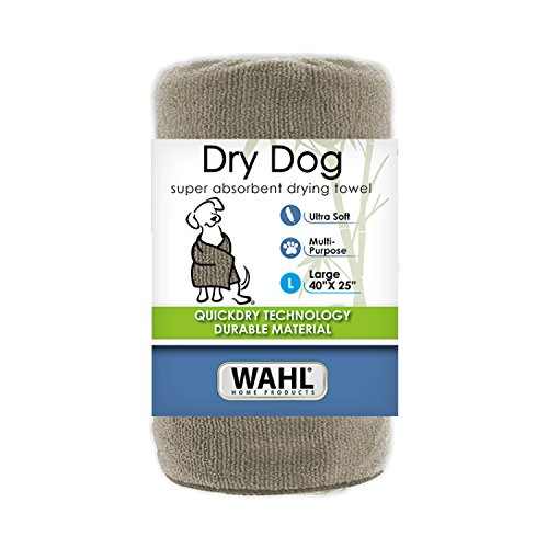 WAHL Pet Ultra Absorbent and Soft Large Dog Drying Towel - Tan, 40 x 25