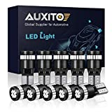 AUXITO 194 LED Light Bulb, Ultra Blue 168 2825 W5W T10 Wedge 24-SMD 3014 Chipsets LED Replacement Bulbs Error Free for Car Dome Map Reading License Plate Instrument Panel Dashboard Lights (Pack of 10)