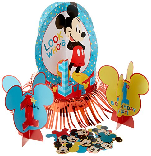 Amscan Disney Mickey's Fun to be One Table Decorating Kit, Birthday