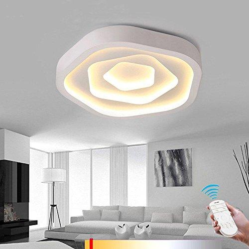NIHE 58W LED Blanc Moderne Simple Plafonnier LED Dimmable Plafonnier Salon Salon Chambre Corridor Restaurant Diamètre 52CM 180-260V