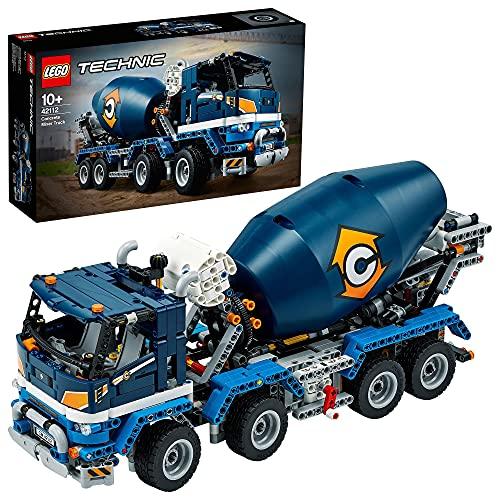 LEGO42112TechnicCamiónHormigoneraconCubaMezcladoraGiratoria,Ju...