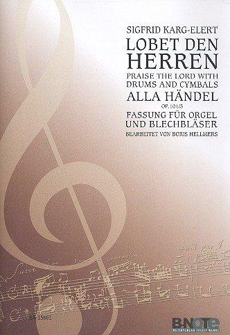 Lobet den Herrn mit Pauken und Zimbeln schön op.101,5 : für 2 Trompeten, Posaune, Tuba und Orgel, Stimmen