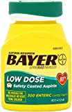 Aspirin Regimen Bayer 81mg Enteric Coated Tablets, #1 Doctor Recommended Aspirin Brand, Pain Reliever,300 Count (3-Pack)