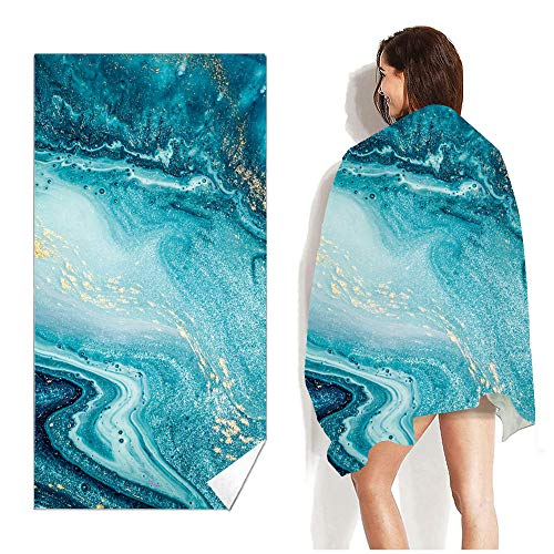 Toalla De Playa Microfiber Quick Dry Pool Bath Towels,Oversized Lightweight Sand Free Compact,Travel Camping Accessories,Silver,63X31 Inches