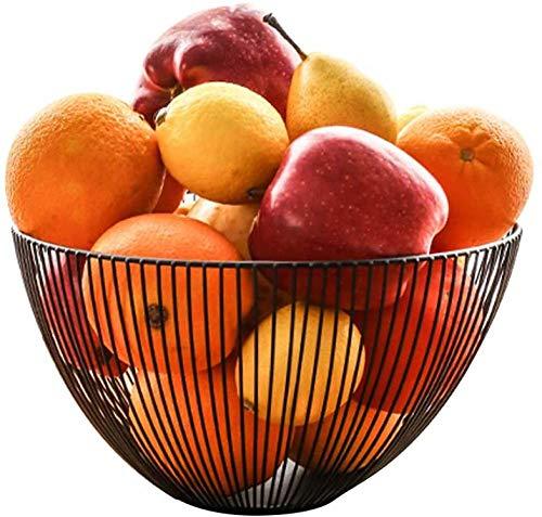 Cesta de frutas de alambre de metal para cocina,tazón grande de malla para mostrador de frutas para mostrador de cocina, moderno