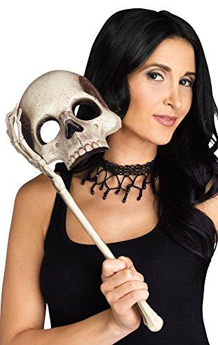 Generique - Masque Halloween crâne Blanc