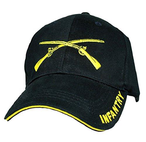 U.S. Army Infantry Logo with Text Cap, Black