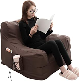 iOCHOW Floor Chair Indoor & Outdoor Lounger Chair-Bean Bag Chair Memory Foam Sofa with Dirt-Proof Oxford Fabric&Side Pocke...