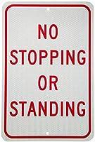 停止または立ち止まり通知標識安全スズ金属標識道路道路標識屋外装飾注意標識