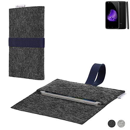 flat.design Handy Hülle Aveiro für Homtom HT50 passgenaue Filz Tasche Case Sleeve Made in Germany