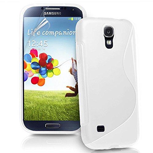 ebestStar - Cover Compatibile con Samsung S4 Mini Galaxy GT-i9190, i9192, i9195 Custodia Protezione S-Line Design Silicone Gel TPU Morbida e Sottile, Bianco [Apparecchio: 124.6 x 61.3 x 8.9mm, 4.3'']