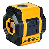 Johnson Level & Tool 40-6603 Self-Leveling Cross-Line Laser Level with Plumb and Level Layout Lines