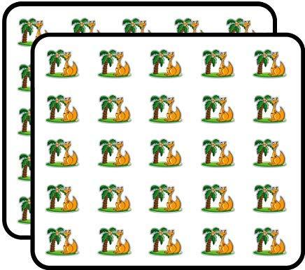 Känguru-Palm-Cartoon-Vinyl-Aufkleber, lustig, niedlich, für Kinder, Basteln, Scrapbooking, Laptop, Stoßstange, Autoaufkleber, Aufkleber für Kinder, 50 Stück