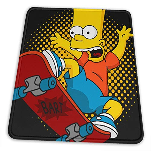 Bart Simpson Mouse Pad Anime Mouse Mat Home Office Computer Gaming Mousepad(Vertical Version) 8.3 X 10.3 in