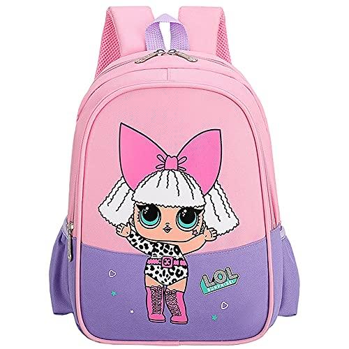 LOL Surprise Dolls Zaino per Bambini, Hilloly Zaino Scuola Elementare, Zaino Cartoni Bambina per Ragazzi, LOL Zaino scuola, Zaino scuola per bambini, per bambina bambino 3 - 8 anni Cute Backpack