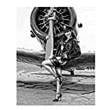 'Wings of Angels'- Vintage Art Print- 8 x10 Wall Decor- Ready To Frame. Great Mens Gift-Retro Home Decor- Office Decor. Great for Man Cave- Bar- Garage. Tribute to World War II Pin-Up Aviation Posters