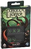 W-Workshop Fantasy Flight - Set di Dadi per Il Gioco Arkham Horror, Colore: Verde/Nero