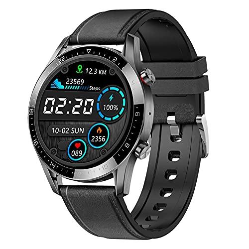 lizeyu Bluetooth Llamada frecuencia cardíaca Deportes Espacio Multifuncional Reloj Inteligente Negro