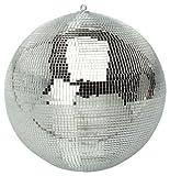 FXLab G007A - Bola de discoteca con espejos, color plateado, 20 cm.