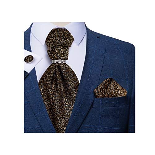 NXYJD Hombres Silk Pie Necktie Men's Formal Body Fiesta Corbatas Pantalones Gemelos Conjunto de Hombres Regalo (Color : D)