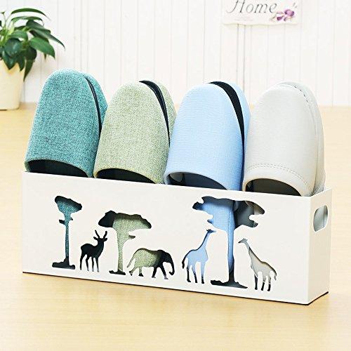 LJHA Art de fer / créative salle de bains porte-chaussures / ménage peinture de cuisson en métal petite chaussure / antipoussière européen parapluie chaussures stockage rack (2 couleurs en option) Meubles à chaussures ( Couleur : Blanc , taille : A )