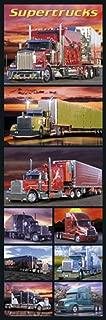 Wizard Supertrucks Semi Trucks Big Rigs Photo Collage Collection Transportation Door Cool Wall Decor Art Print Poster 12x36