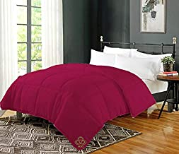 AVI Soft Micro Polyester AC Quilt 200 GSM Single Bed Comforter/Blanket/Duvet for Summers-60x90 Wine