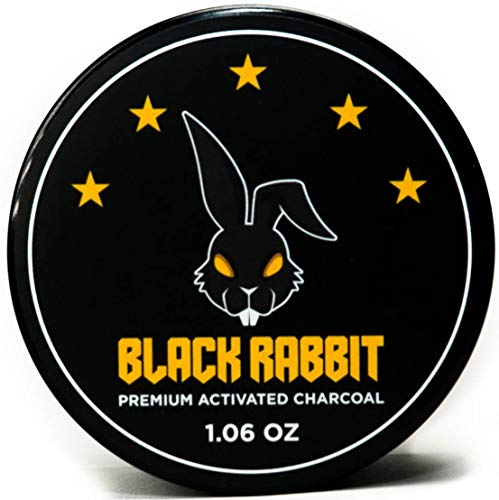 Premium Activated Charcoal Teeth Whitening Powder by Black Rabbit - Fluoride Free 30g/1.06oz