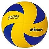 MIKASA Stellerball MVT 500, blau - gelb, 65-67 cm Umfang, Gr. 5