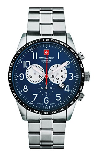 Swiss Alpine Military by Grovana Herrenuhr Chrono 10 ATM Blue 7082.9135SAM
