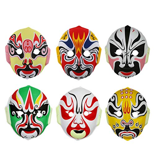 Amosfun Party Grappig Masker Chinese Beijing Opera Masker Halloween Cosplay Masker voor Kinderen Kinderen (Random Style) 6 stks Size 1 Picture 2