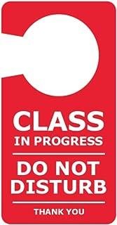 Cartello scorrevole in alluminio//PVC 255 x 52 mm confezione da 5 Seco Do Not Disturb//Knock /& Enter