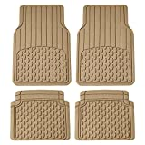 FH Group F11308BEIGE Beige All Weather Floor Mat (Full Set Trimmable Custom Fit), 1 Pack, Tan